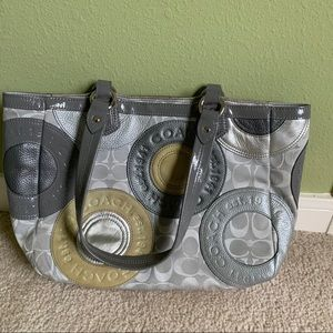 Coach Grey East West Tote